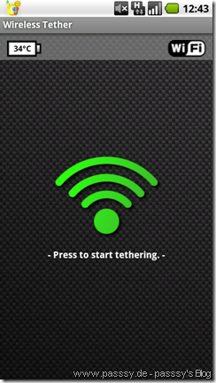 Wifi Tether Screenshot disabled